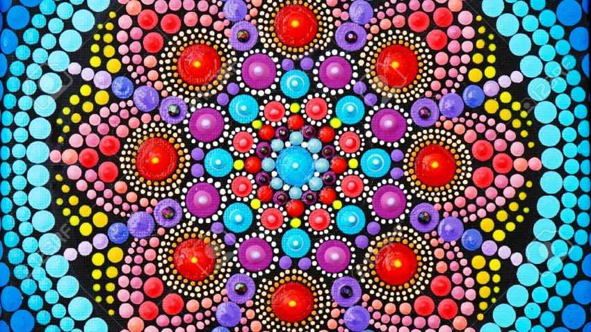 101506052 beautiful mandala hand painted by dots
