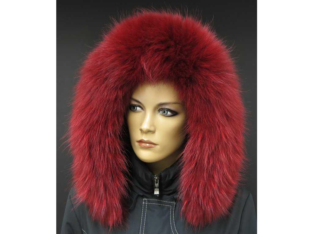 10770 kozesina lem limec na kapuci z finskeho myvalovce 10025 red