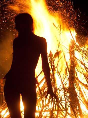 beltane woman fire 353x470