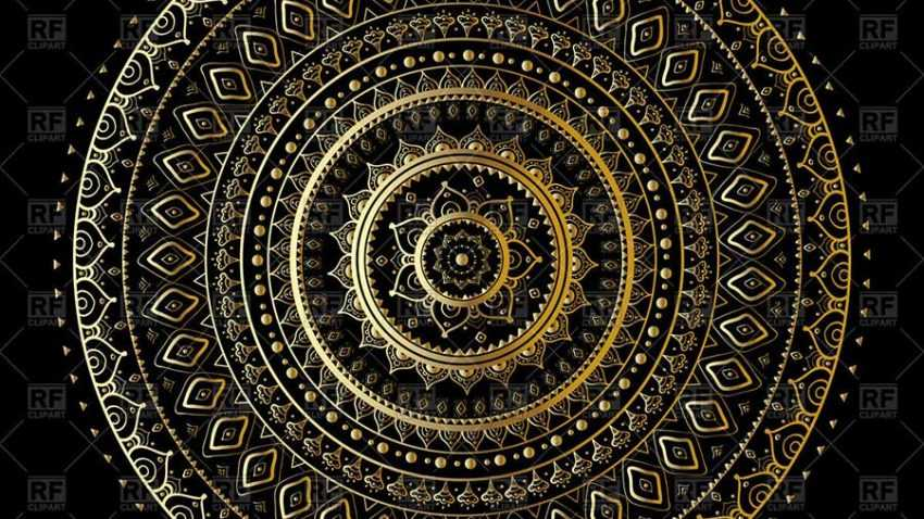 gold mandala background Download Royalty free Vector File EPS 156585